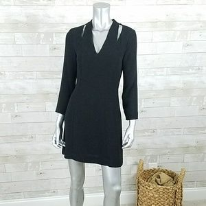 & Other Stories black cutout long sleeve dress